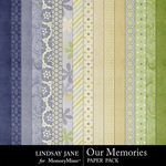 Our Memories Paper Pack-$3.99 (Lindsay Jane)