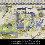 Our Memories Embellishment Pack-$3.99 (Lindsay Jane)