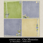 Our Memories Deco Paper Pack-$3.25 (Lindsay Jane)