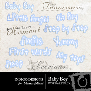 Baby boy id wordart medium