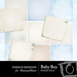 Baby Boy ID Paper Pack-$3.99 (Indigo Designs)