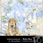 Baby Boy ID Embellishment Pack-$2.99 (Indigo Designs)