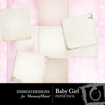 Baby Girl ID Paper Pack-$3.99 (Indigo Designs)