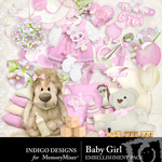 Baby Girl ID Embellishment Pack-$2.99 (Indigo Designs)
