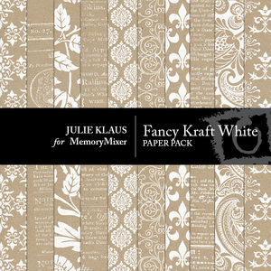Fancy kraft white pp medium
