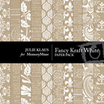 Fancy Kraft White Paper Pack-$3.99 (Julie Klaus)