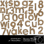 Brown Wood Alphabet Pack-$0.99 (Julie Klaus)