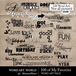 My Favorites WordArt Pack-$4.99 (Word Art World)