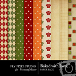 Baked With Love Paper Pack-$3.99 (Fly Pixel Studio)