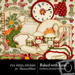 Baked With Love Embellishment Pack-$1.80 (Fly Pixel Studio)