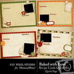 Baked With Love QUICK PAGE QuickMix-$3.49 (Fly Pixel Studio)