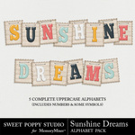 Sunshine Dreams Alphabet Pack-$2.49 (Sweet Poppy Studio)