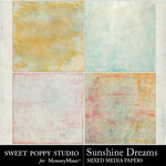 Sunshine Dreams Mixed Paper Pack-$2.49 (Sweet Poppy Studio)