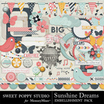 Sunshine Dreams Embellishment Pack-$1.80 (Sweet Poppy Studio)