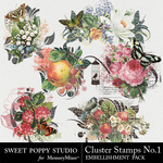 Cluster Stamps Volume 1 Embellishment Pack-$2.49 (Sweet Poppy Studio)
