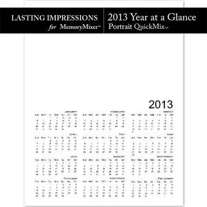 2013 calendar year at a glance pt temp medium