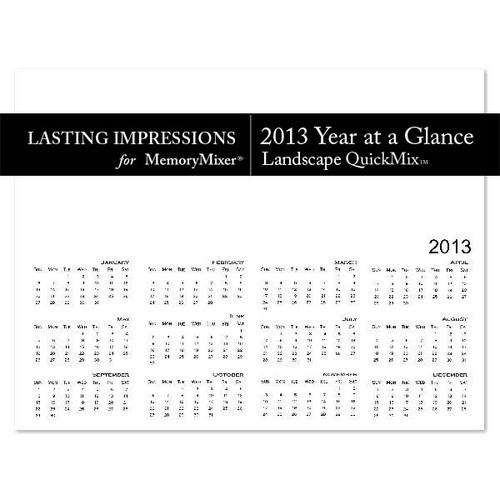 2013 Calendar Year at a Glance LS Template QuickMi