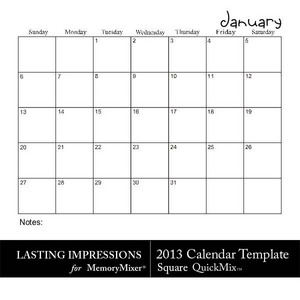 2013 calendar sq template medium