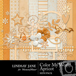 Color my world apricot mini small