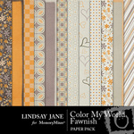 Color My World Fawnish Paper Pack-$3.99 (Lindsay Jane)