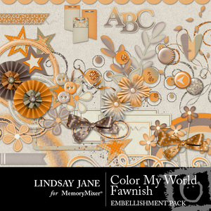 Color my world fawnish emb medium