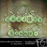 Goodbye Summer Alphabet Pack-$1.25 (MagicalReality Designs)