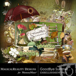 Goodbye Summer Embellishment Pack-$3.49 (MagicalReality Designs)
