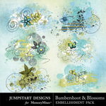 Bumbershoot and Blossoms Scatters Pack-$2.99 (Jumpstart Designs)