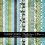 Bumbershoot and Blossoms Add On Paper Pack-$3.99 (Jumpstart Designs)