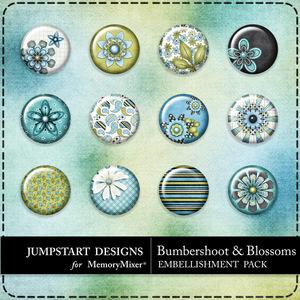 Bumbershoot and blossoms flairs medium