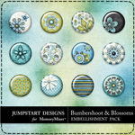 Bumbershoot and Blossoms Flair Pack-$2.99 (Jumpstart Designs)