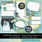 Bumbershoot and Blossoms Journal Pack-$2.49 (Jumpstart Designs)