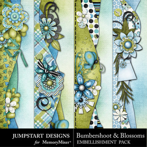 Bumbershoot and blossoms borders medium