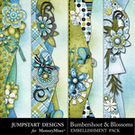 Bumbershoot and blossoms borders small