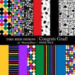 Congrats Grad Paper Pack-$3.49 (Tara Reed Designs)