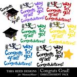 Congrats Grad Embellishment Pack-$2.99 (Tara Reed Designs)