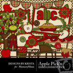 Apple Pickn Embellishment Pack-$1.50 (Designs by Krista)