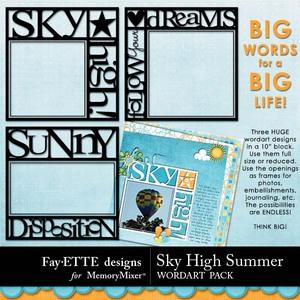 Sky high summer big words medium