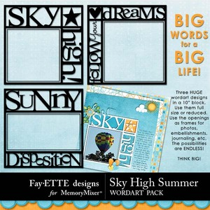 Sky high summer big words medium