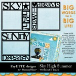 Sky High Summer Big Words Pack-$1.00 (Fayette Designs)