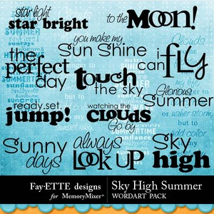 Sky high summer wordart medium