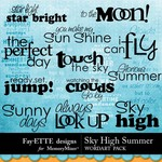 Sky high summer wordart small
