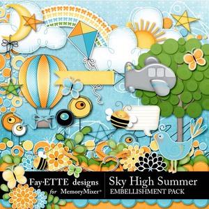 Sky high summer emb medium