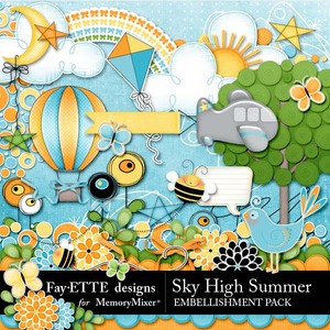 Sky high summer emb medium
