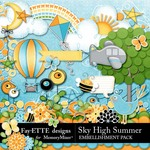 Sky High Summer Embellishment Pack-$2.99 (Ettes and Company by Fayette)