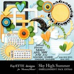 Sky High Summer Extra Embellishment Pack-$1.99 (Ettes and Company by Fayette)