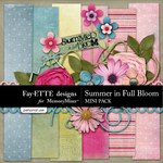 Summer in Full Bloom Mini Pack-$3.49 (Ettes and Company by Fayette)