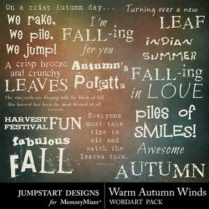 Warm autumn winds wordart medium