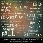 Warm Autumn Winds WordArt Pack-$2.49 (Jumpstart Designs)