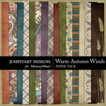 Warm Autumn Winds Paper Pack 1-$3.99 (Jumpstart Designs)
